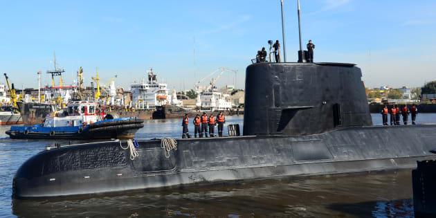 Le sous-marin ARA San Juan en 2014.