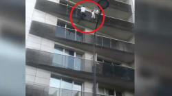 Scala un palazzo a mani nude per salvare un bambino sospeso nel
