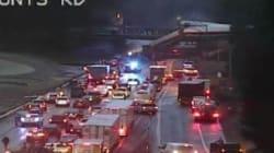 Un train déraille sur une autoroute dans l'État de Washington, au moins 3 morts et 100