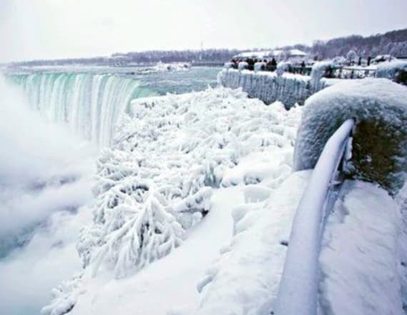 Niagara Falls freezes over in stunning spectacle
