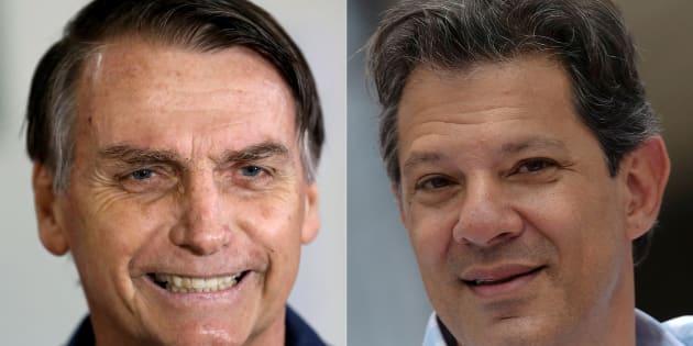 Jair Bolsonaro e Fernando Haddad terão tempos iguais de programa gratuito na TV.