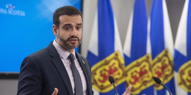 Nova Scotia Education Minister Zach Churchill speaks during a press conference in Halifax on Jan. 24, 2018. Churchill says the government will move ahead with a recommendation to eliminate all of the province's seven English language regional school boards.