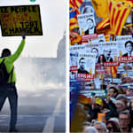 Francia, Spagna, Albania, Montenegro, Serbia... La rabbia gonfia le piazze