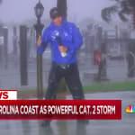 Des téléspectateurs outrés par le duplex de ce reporter en plein ouragan