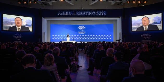 """Davos, Mike Pompeo: """"Con M5s in Italia, Brexit e Trump segnali di rottura positivi"""""""