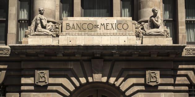 Facha del Banco de México en Ciudad de México.