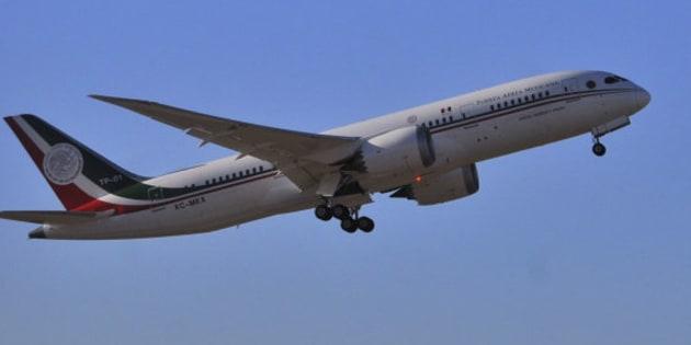 El avión presidencial utilizado por el presidente Enrique Peña Nieto.