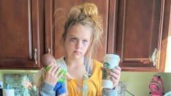 Teen Dresses As 'Tired Mom' For Halloween And It's Too