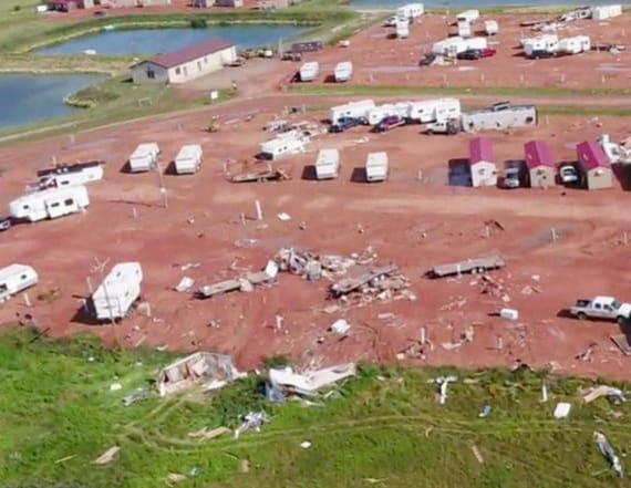 Baby dies, dozens hurt in North Dakota tornado