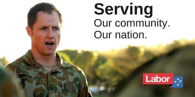 The Australian Defence Force has called for O'Neill to remove billboards.