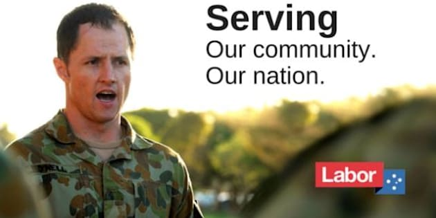 ALP candidate Pat O'Neill originally dismissed ADF orders to remove billboards.