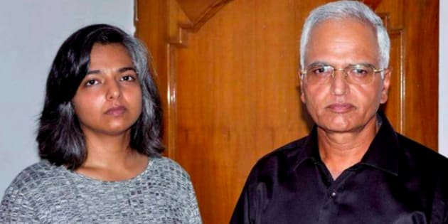File photo of IAS officer VS Kundu and daughter Varnika.