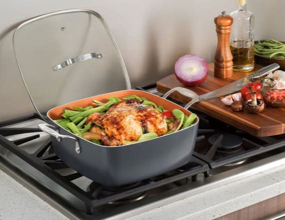 Upgrade your old cookware with this 4-piece pan set