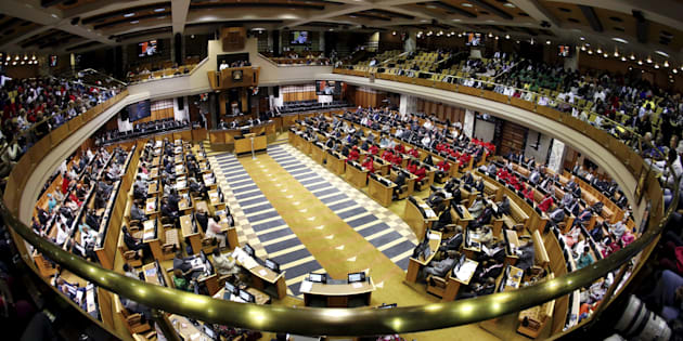 A general view of South Africa's Parliament in Cape Town.