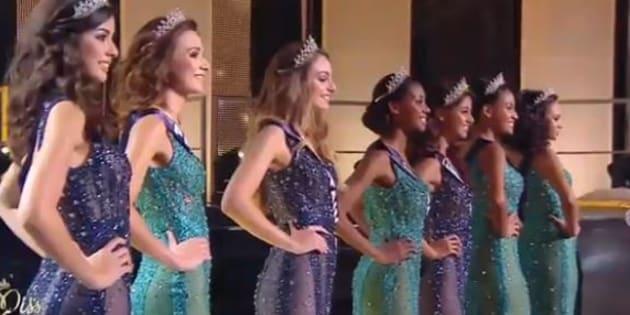 Sept des douze finalistes de l'élection de Miss France 2017.