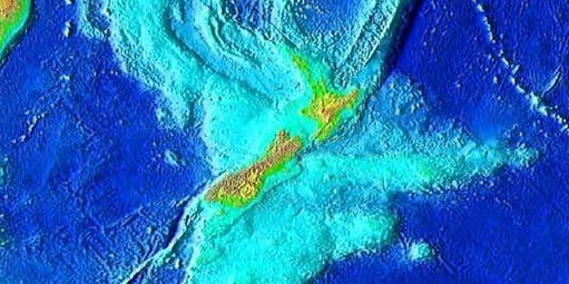 New Zealand and submerged land mass