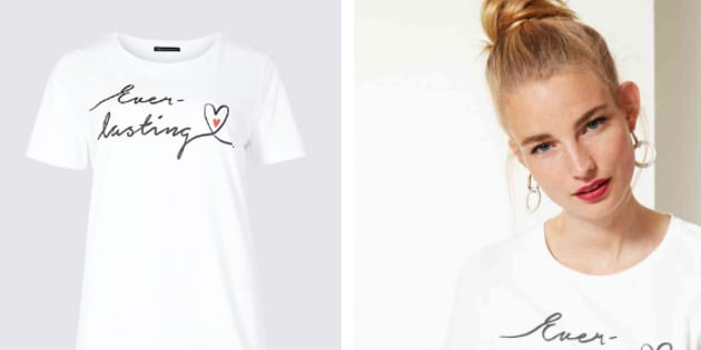 A new baby loss awareness shirt by Marks & Spencer is only available for women.
