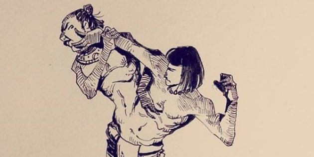 United. Una de las obras de Christian Arredondo, quien logró ganar una de las becas que ofreció del Toro.