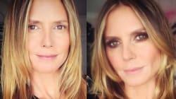 Heidi Klum prouve qu'avec ou sans maquillage, elle est