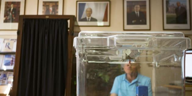 Un bureau de vote à Saint-Rome près de Toulouse, le 18 juin 2017.
