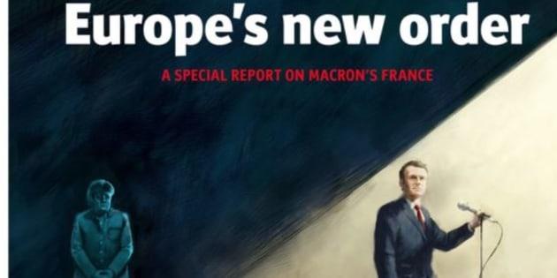 """Merkel dans l'ombre et Macron dans la lumière, la """"une"""" très symbolique de The Economist"""