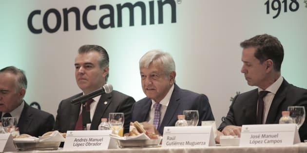 Andrés Manuel López Obrador  se reunió con Francisco Cervantes Díaz, presidente de la Concamin.