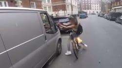 Une cycliste harcelée par un chauffard sexiste prend sa revanche. Trop beau pour être