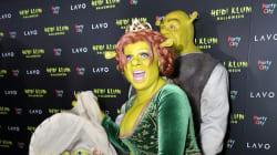 Halloween: Heidi Klum en Fiona de Shrek est