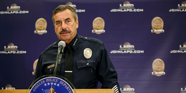 LOS ANGELES, CA - OCTOBER 3: LAPD Chief Charlie Beck speaks during a press conference to address the two recent officer-involved-shooting in Los Angeles, Calif., on Oct. 3, 2016. (Photo by Marcus Yam/Los Angeles Times via Getty Images)