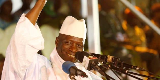 Yahya Jammeh à Banjul le 29 novembre 2016.
