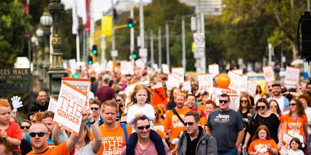 "A rally against so-called ""gingerism"" is being held in Melbourne."