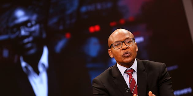 JOHANNESBURG, SOUTH AFRICA  AUGUST 30: (SOUTH AFRICA OUT) The New Age and ANN7 proprietor Mzwanele Manyi during the announcement on the shareholding of his company Lodidox on August 30, 2017 in Johannesburg, South Africa. During the live television broadcast, Manyi revealed that he was the sole shareholder in Lodidox  the shelf company he bought. (Photo by Gallo Images / The Times / Alon Skuy)