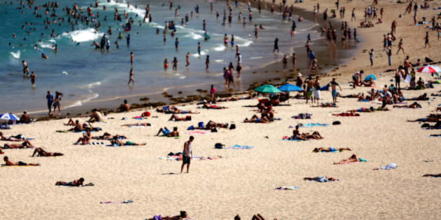 It was a hot, dry start to the year in 2016 -- Beachgoers enjoy the hot weather at Coogee Beach on January 13, 2016 in Sydney, Australia.