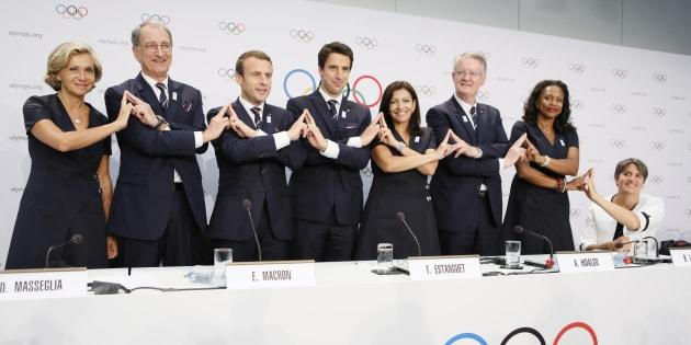 La délégation parisienne à Lausanne le 11 juillet 2017.