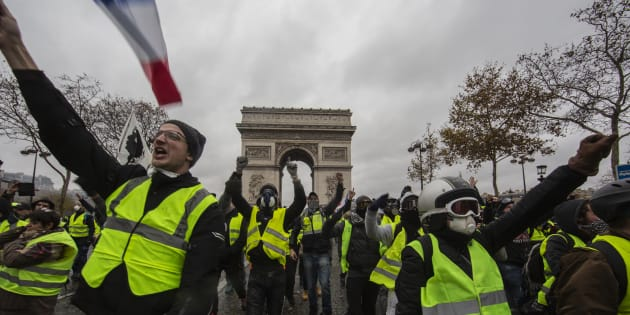 La manifestation des gilets jaunes le 1er décembre 2018 à Paris.