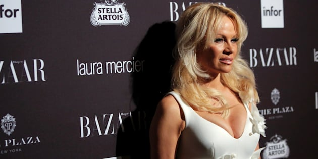 Pamela Anderson attends Harper's Bazaar's celebration of 'ICONS By Carine Roitfeld' at The Plaza Hotel during New York Fashion Week in Manhattan, New York, U.S., September 9, 2016.  REUTERS/Andrew Kelly