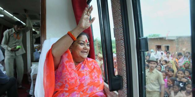 Rajasthan: Vasundhara Raje Leads In Jhalrapatan Against Congress' Manvendra Singh