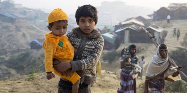Des réfugiés rohingyas à Kutupalong au Bangladesh le 26 février 2018 (photo d'illustration).