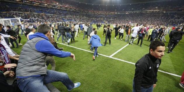 Des incidents avaient émaillé l'avant-match de Lyon-Besiktas le 13 avril 2017.