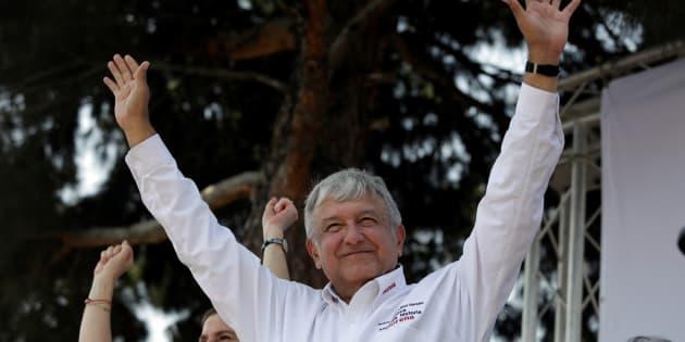 El candidato presidencial durante un mitin en Santa Catarina, Monterrey.