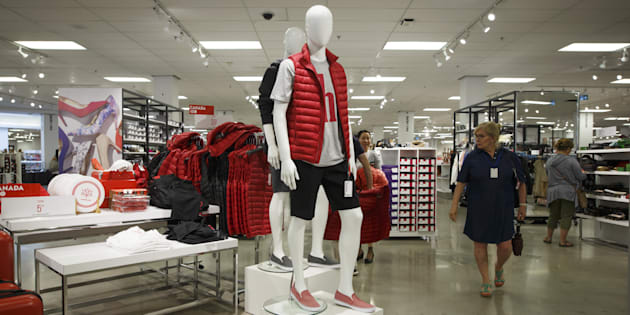 Shoppers walk past mannequins displayed at a Sears Canada store inside a mall in Toronto, Ontario, Thursday, June 22, 2017. Liquidation sales have begun at 54 Sears locations across the country.