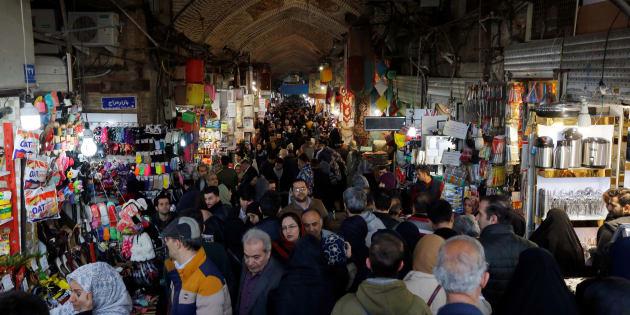 Le Grand Bazar de Téhéran, janvier 2018.