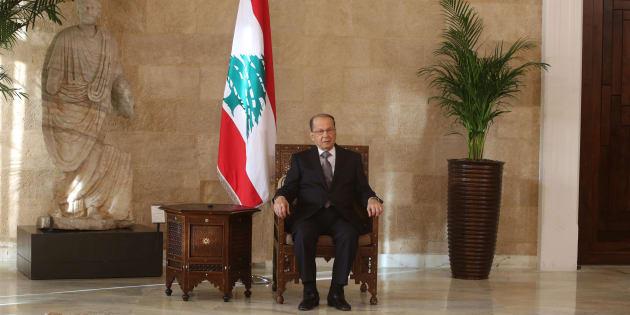 Michel Aoun dans le palais présidentiel près de Beyrouth le 31 octobre 2016.