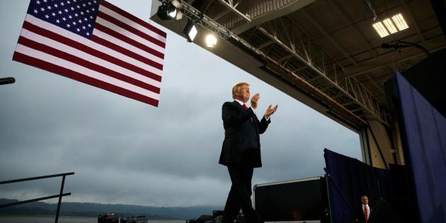 Donald Trump llega a Harrisburg, Pennsylvania, el pasado día 11 de octubre, para celebrar un acto sobre impuestos.
