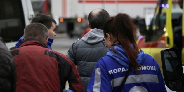 Évacuation du métro de Saint-Pétersbourg après l'explosion survenue lundi 3 avril.