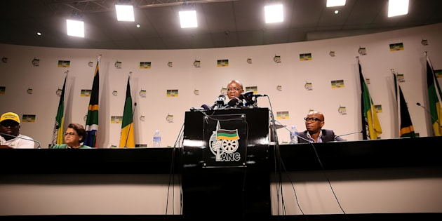 Introspection: ANC secretary-general Gwede Mantashe addresses the media after the party's National Executive Committee (NEC) meeting discussing a motion of no confidence in President Jacob Zuma on November 29, 2016 in Johannesburg, South Africa. Mantashe announced that the NEC did not support the call for President Zuma to resign. The party faces more introspection at its policy conference in June.