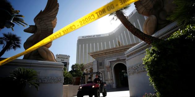 Donald Trump observe une minute de silence — Fusillade Las Vegas