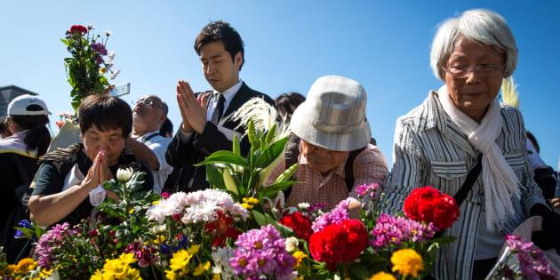 Mais de 50 mil pessoas se reuniram para lembrar o ataque que ocorreu há 72 anos.