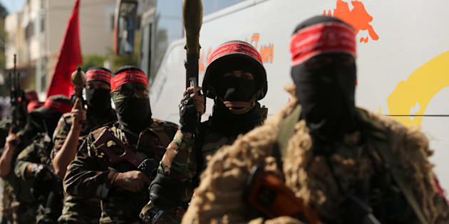 Palestinian militants of the National Resistance brigades.
