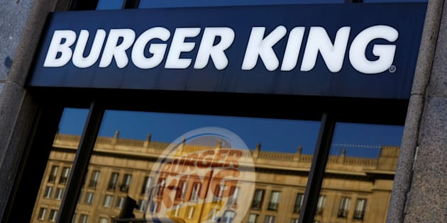 Burger King logo is seen in a restaurant in a communist-era building in Warsaw, Poland October 2, 2017.